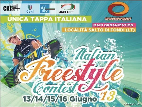 """Kitesurf. L'""""Italian Freestyle Contest"""" al Salto di Fondi, dal 13 al 16 giugno"""