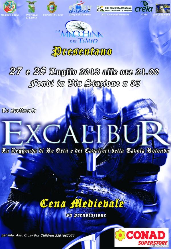 A fondi lo spettacolo excalibur la leggenda di re art e del cavalieri della tavola rotonda - La tavola rotonda di re artu ...