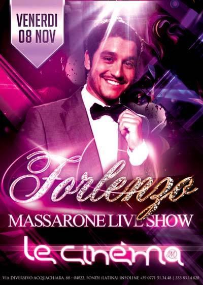 Le Cinèma, cena spettacolo con il live di Forlenzo  (venerdì 8 novembre 2013)