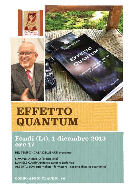 Beltempo, Presentazione del libro 'Effetto Quantum' di Alberto Lori