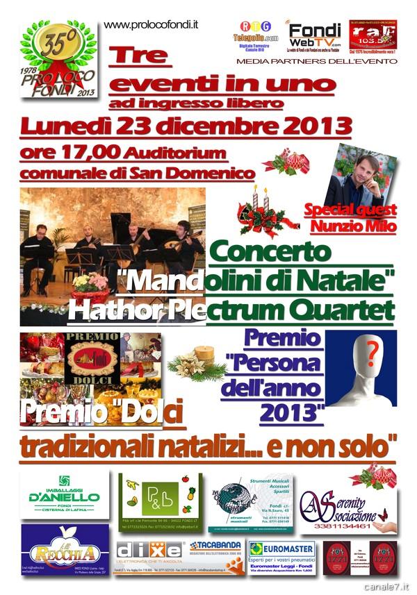 """Concerto """"Mandolini di Natale"""" a Fondi. Tre eventi in uno ad ingresso libero"""