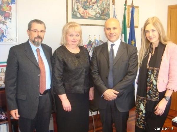 In visita a Fondi i rappresentanti del mondo scolastico moscovita