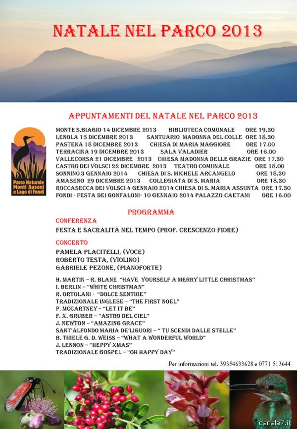 """Il Parco dei Monti Ausoni e Lago di Fondi presenta il """"Natale nel Parco"""". Al via da sabato a Monte San Biagio, dieci eventi nei dieci comuni"""