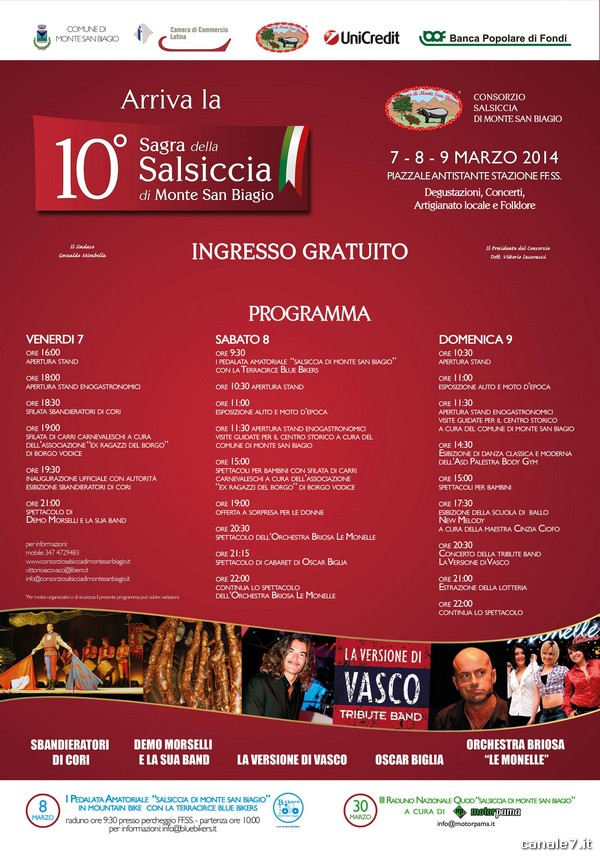 Locandina Sagra della Salsiccia di Monte San Biagio 2014_comp