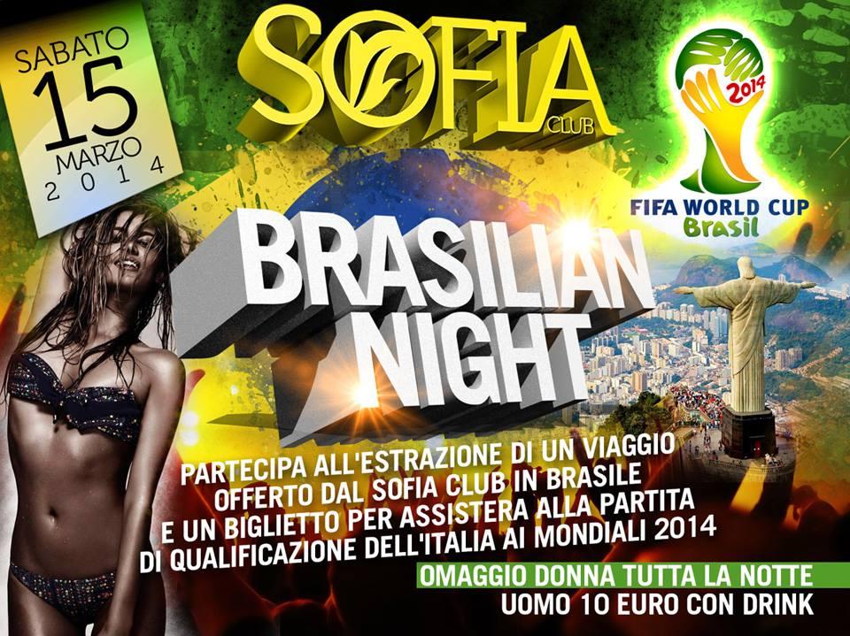 Sofia Club, un evento dedicato al Brasile con premio grande premio finale
