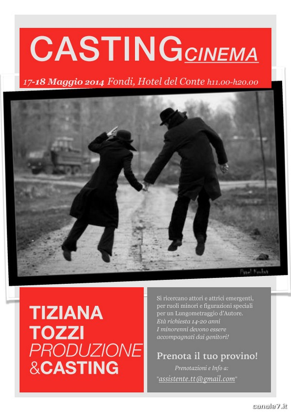 Casting per il Cinema a Fondi, 17-18 maggio
