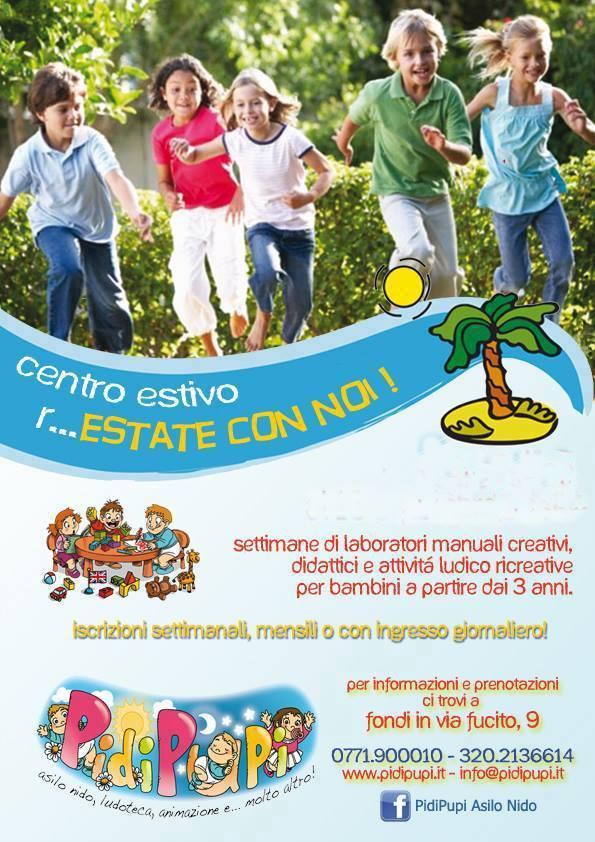 R estate con noi il centro estivo di pidipupi for Giochi per bambini di un anno