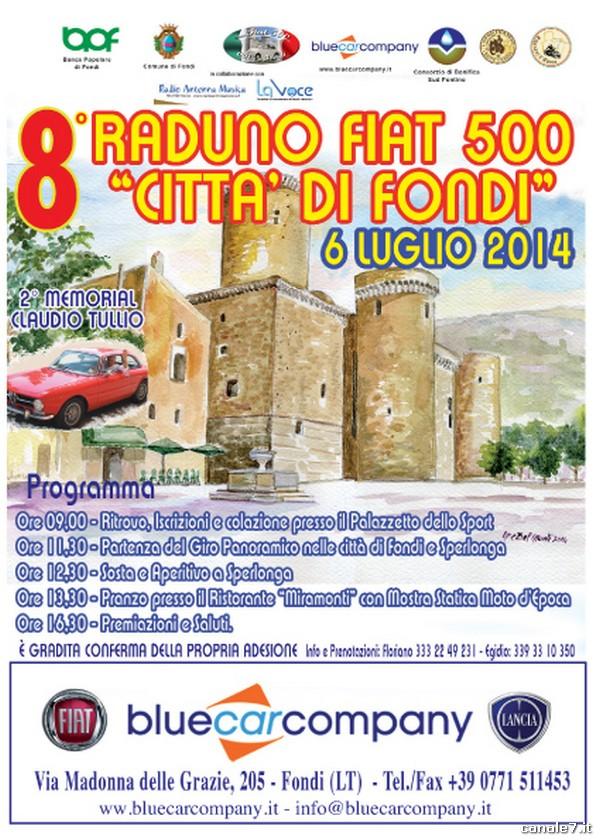 LOCANDINA 8° RADUNO FIAT 500 FONDI - LUG 2014 (sponsor blue car company) copia_comp