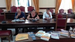 Conferenza stampa aula consiliare Gaeta - Dino Pascali - Francesca Lucreziano - Ciano