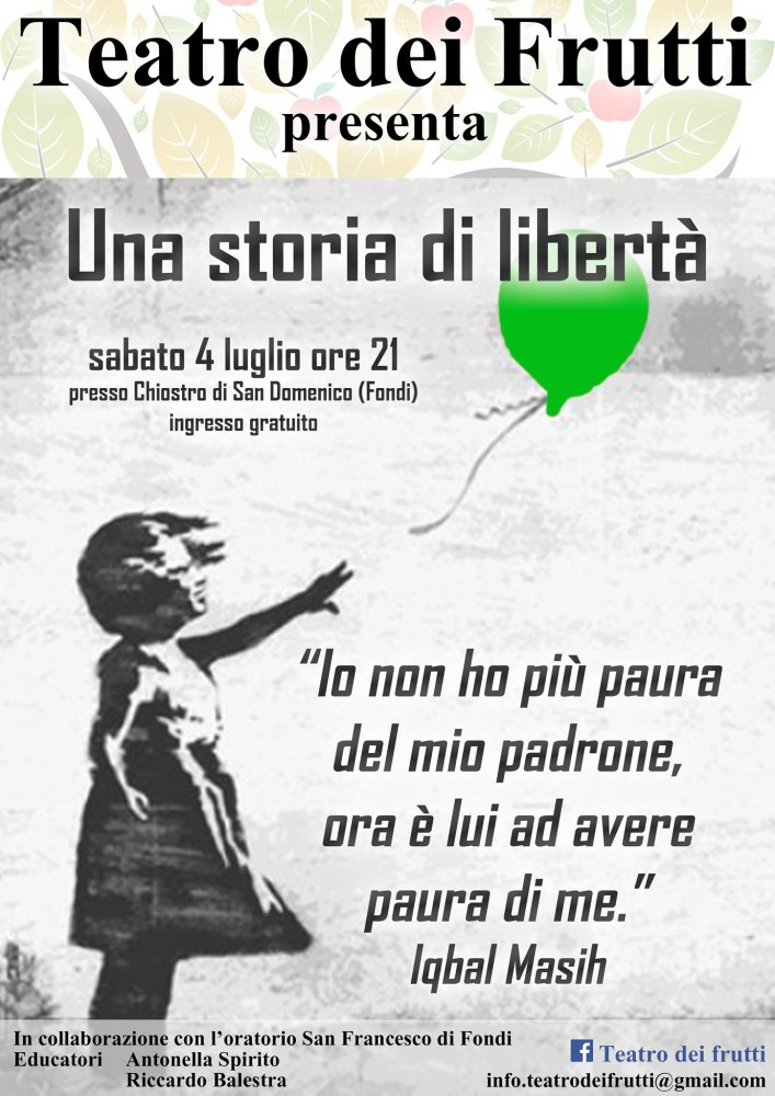 Rappresentazione teatrale Una Storia di libertà