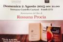 """Presentazione del libro """"L'amore può bastare"""" di Rossana Procia"""