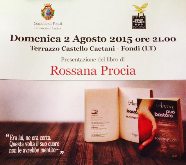 Slide Presentazione del libro ''L'amore può bastare'' di Rossana Procia