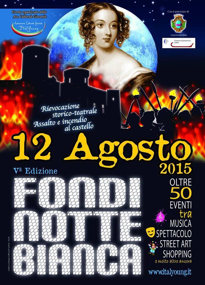 Locandina Fondi Notte Bianca 2015  -2