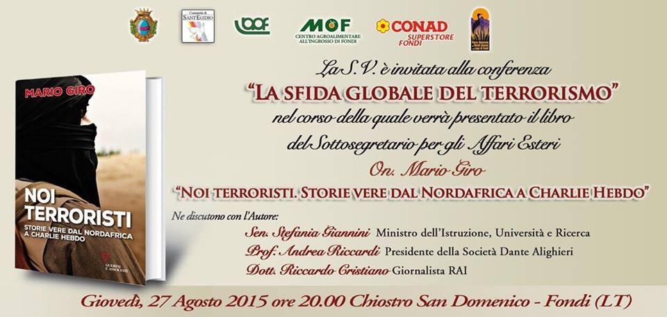 SLIDE CONFERENZA E PRESENTAZIONE LIBRO TERRORISMO (AGO2015)