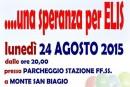 """Questa sera a Monte San Biagio, serata di beneficenza """"Una speranza per Elis"""""""