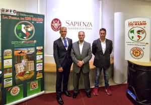 da sx a dx - prof Maselli, Mario Stravato, Riccardo Stravato