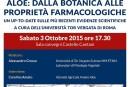 """Eventi """"Fondi EXPO 2015"""": incontro """"Aloe, dalla botanica alle proprietà farmacologiche"""": Sabato 3 Ottobre 2015, ore 17.30"""