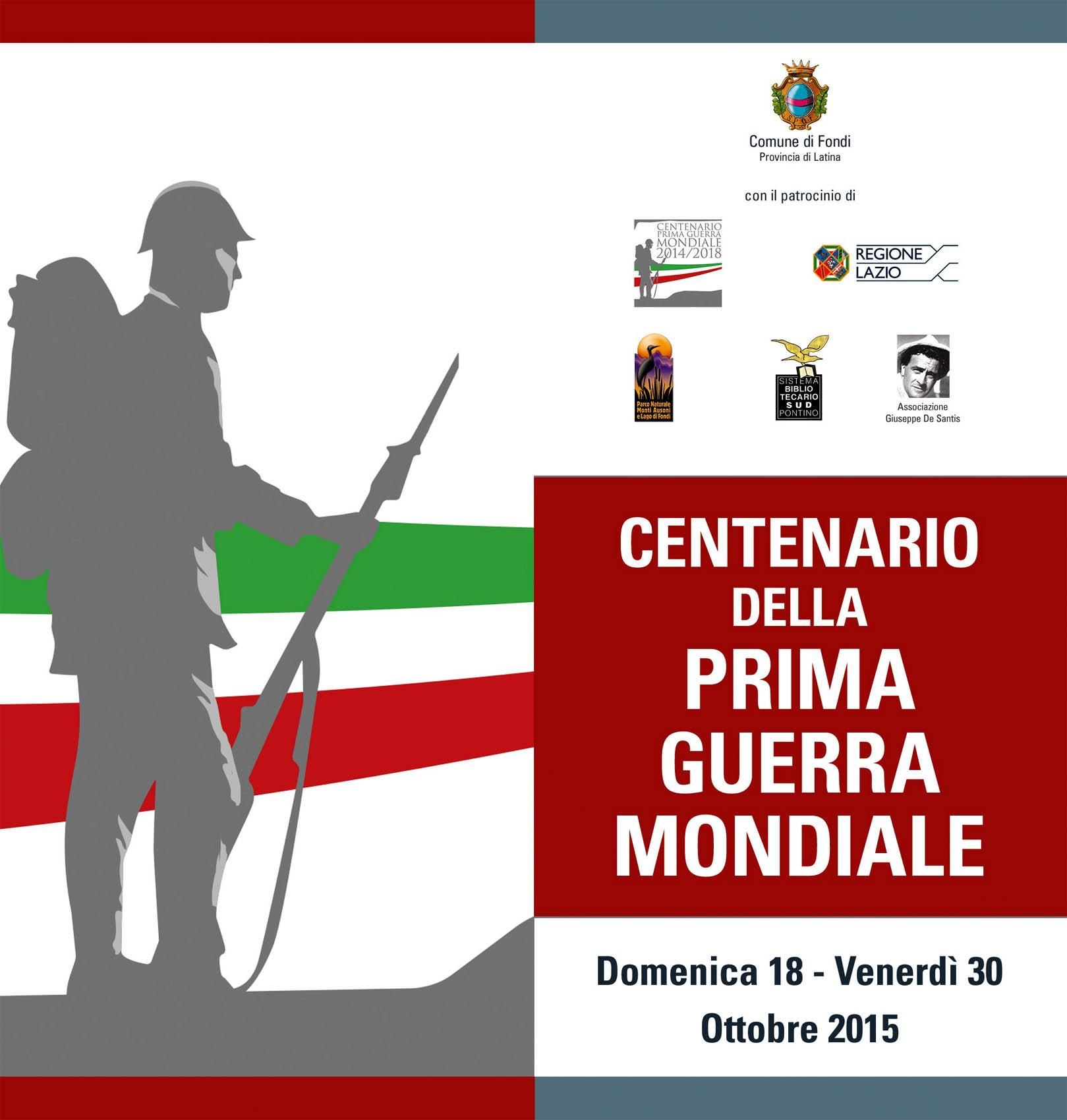 Slide 1 Centenario Grande Guerra (Fondi - 2015)