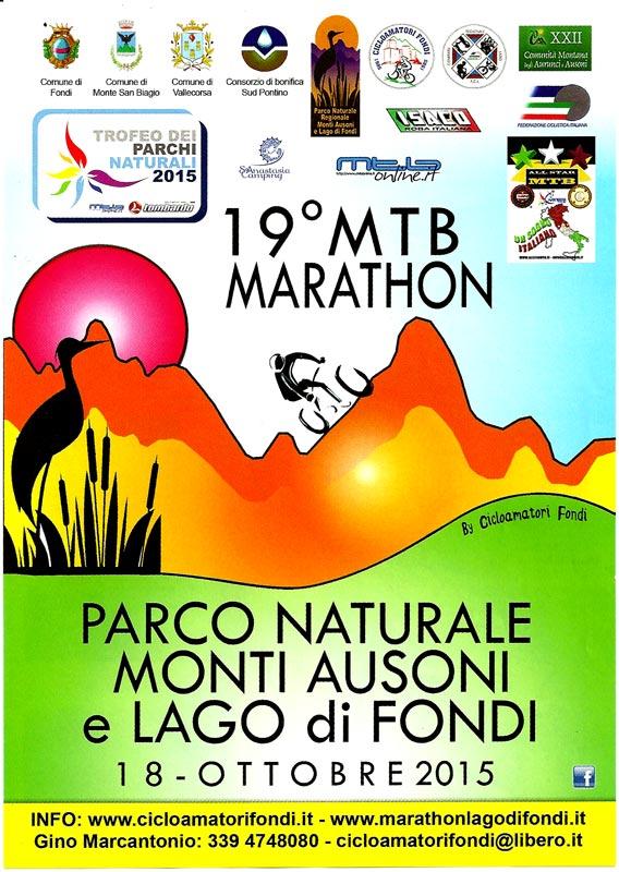 locandina 19° Marathon Parco dei Monti Ausoni e Lago di Fondi