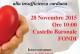 Fondi, Sabato 28 Novembre – Sala convegni Castello Caetani: incontro sulle patologie cardiovascolari con il prof. Francesco Fedele