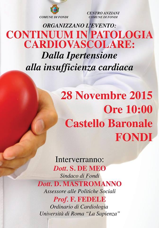 Locandina Incontro sulle patologie cardiovascolari nov2015 dott. Mastromanno