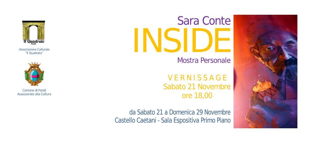 slide inaugurazione mostra personale Sara Conte nov2015