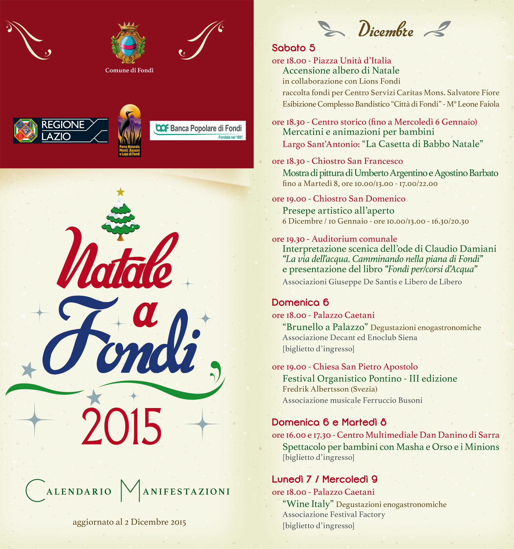 Slide 1 Brochure Natale a Fondi 2015