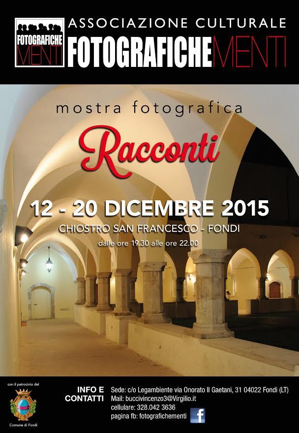 "locandina Mostra fotografica ""Racconti"" - Associazione Fotografichementi"