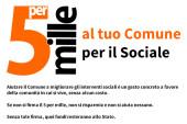 Il 5×1000 al Comune di Fondi, un contributo in più per la spesa sociale