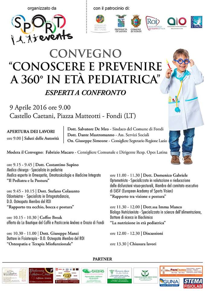 LOC. Convegno ''Conoscere e prevenire a 360° in età pediatrica''