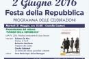 Fondi, celebrazione della Festa della Repubblica e 70° anniversario del diritto di voto alle donne