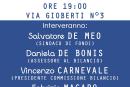"""Bilancio comunale 2016, incontro pubblico del Movimento Politico """"IO SI"""""""