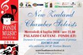 Torna il Fondi Music Festival, domani 6 Luglio appuntamento con i New Zealand Chamber Soloist