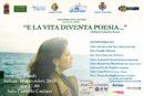 """Sabato 10 Dicembre, ore 17.00, Sala Convegni Castello di Fondi – presentazione libro """"E la vita diventa poesia…"""" di Maria Concetta Arezzi"""