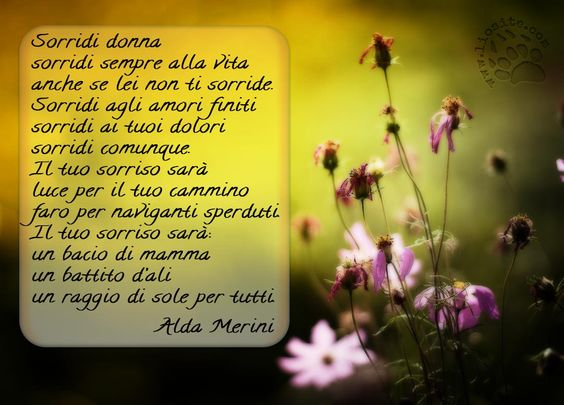 Poesia Alda Merini Sorridi OK