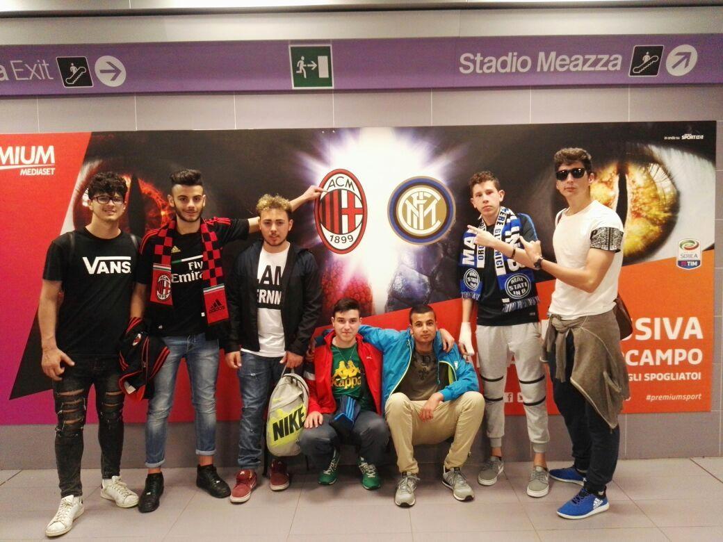 Foto studenti liceo S. Francesco DERBY Inter - Milan
