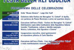 Celebrazioni Festa della Repubblica – Venerdì 2 Giugno 2017