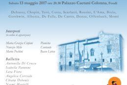 """Questa sera, Sabato 13 Maggio, Concerto A.N.D.O.S. """"Chiaro di Luna"""" in memoria di Caterina De Filippis: appuntamento alle ore 20.30 presso Palazzo Caetani"""