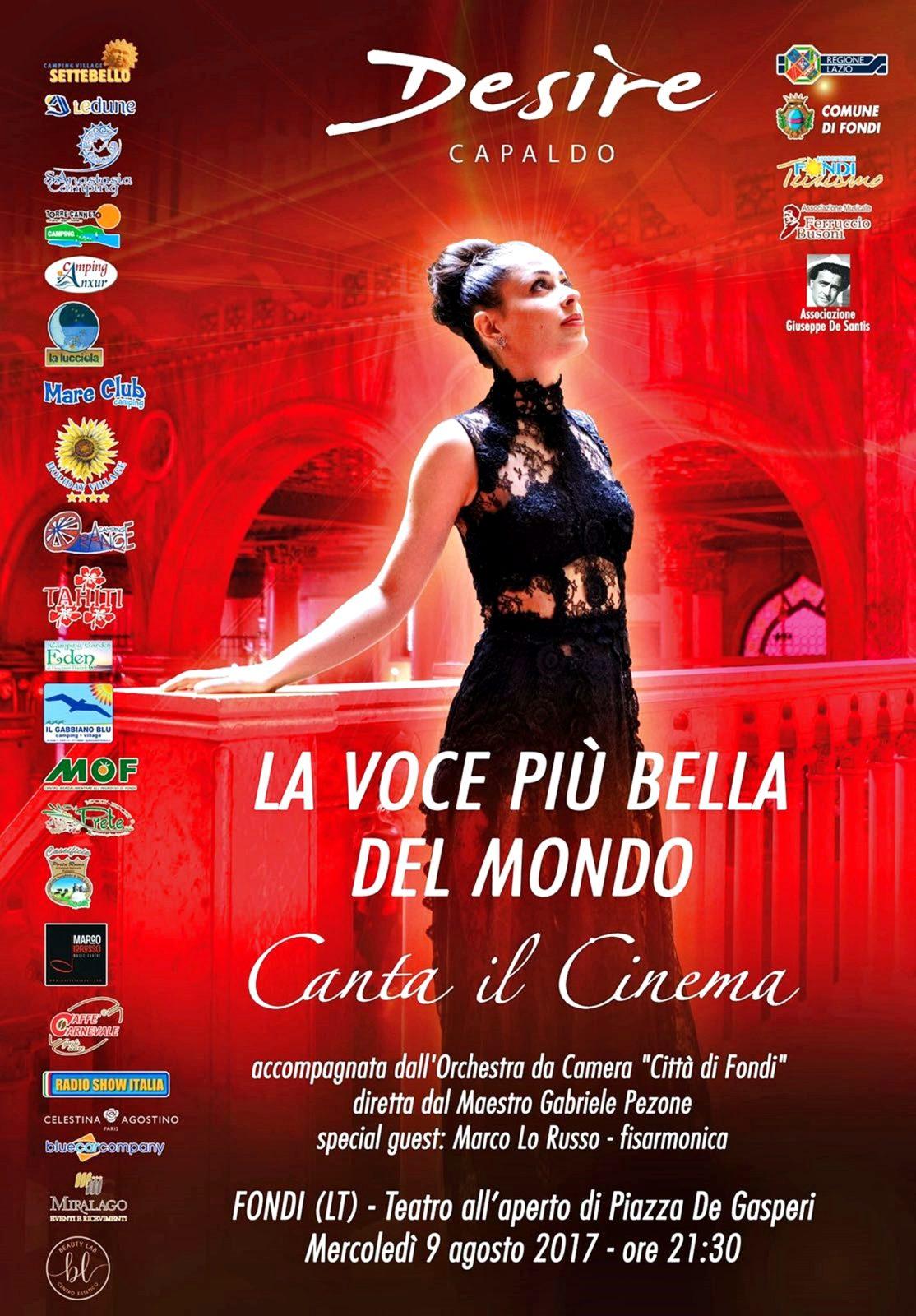 LOC Concerto Desire canta il Cinema 9-8-17