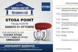 Stosa punta sul nostro territorio: domani, sabato 21 Ottobre, opening dello Stosa Point Arredamenti Marrocco
