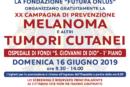 Domani, Domenica 16 Giugno, a Fondi prevenzione del melanoma e degli altri tumori cutanei, screening gratuito