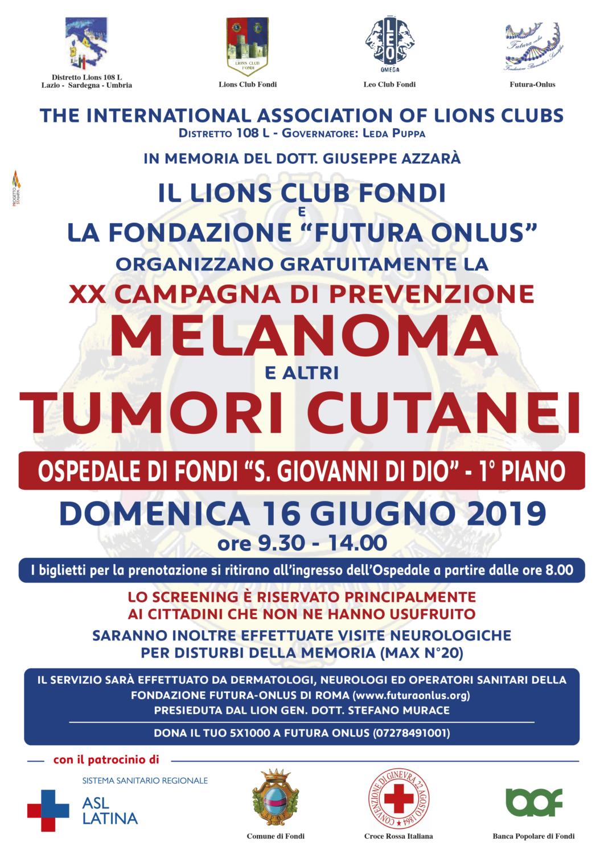 70x100 Screening Melanoma LIONS 2019
