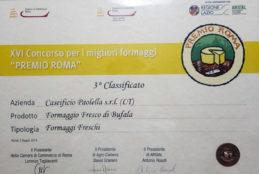 Il formaggio fresco del Caseificio Paolella tra i 3 migliori del Lazio