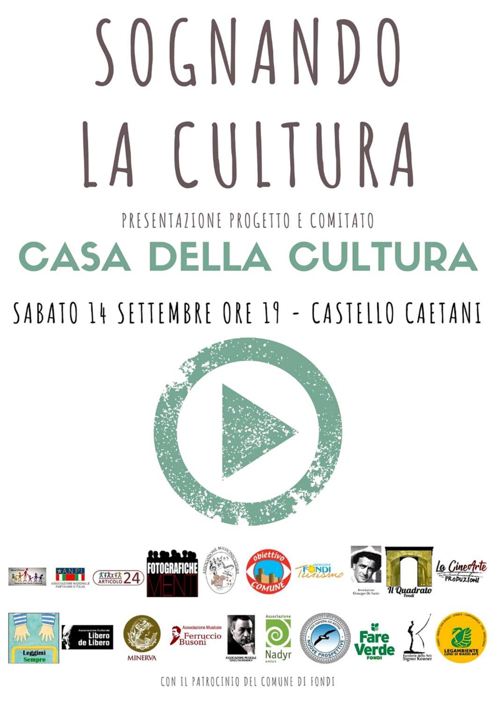 Locandina Casa Cultura - Fondi 14-9-19