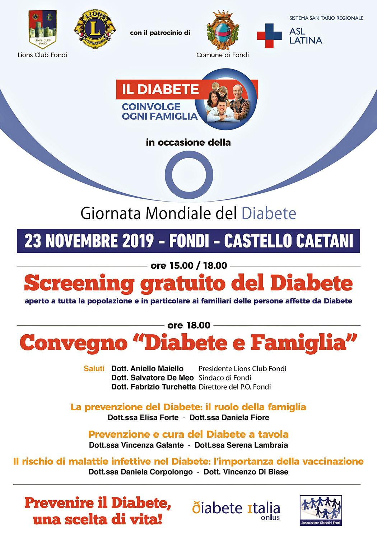 LOC. Giornata Mondiale del Diabete 2019