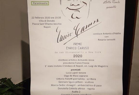 Il Premio Caruso 2020 agli artisti partenopei della lirica Olga De Maio soprano e Luca Lupoli tenore