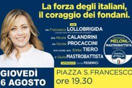 Giovedì 6 agosto, inaugurazione del point elettorale di Giulio Mastrobattista