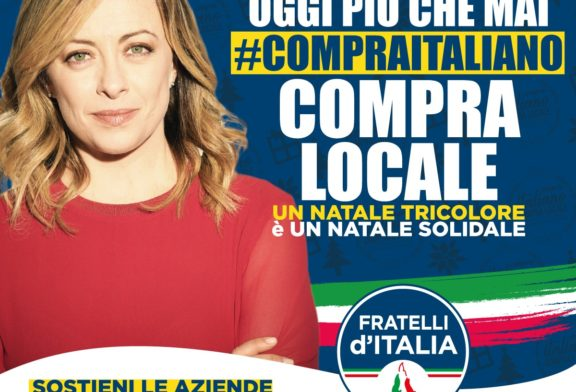 "Fratelli d'Italia Fondi, gazebo in piazza ""A Natale compra Italiano, compra Locale"""