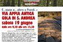 Pro Loco Fondi, evento escursione sulla Via Appia Antica gola di S. Andrea