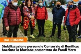 """Comunicato di FONDI VERA, """"Il Consiglio boccia la nostra Mozione per il personale part time del Consorzio di Bonifica"""""""